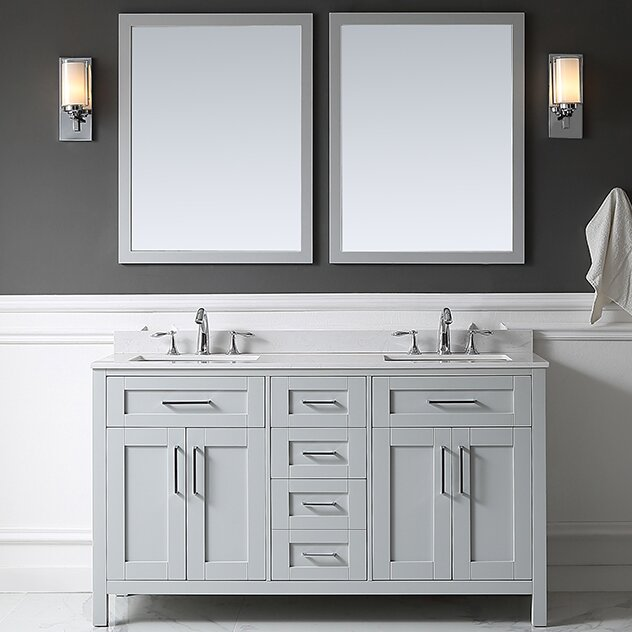 "ove decors tahoe 60"" double bathroom vanity set with mirror in"