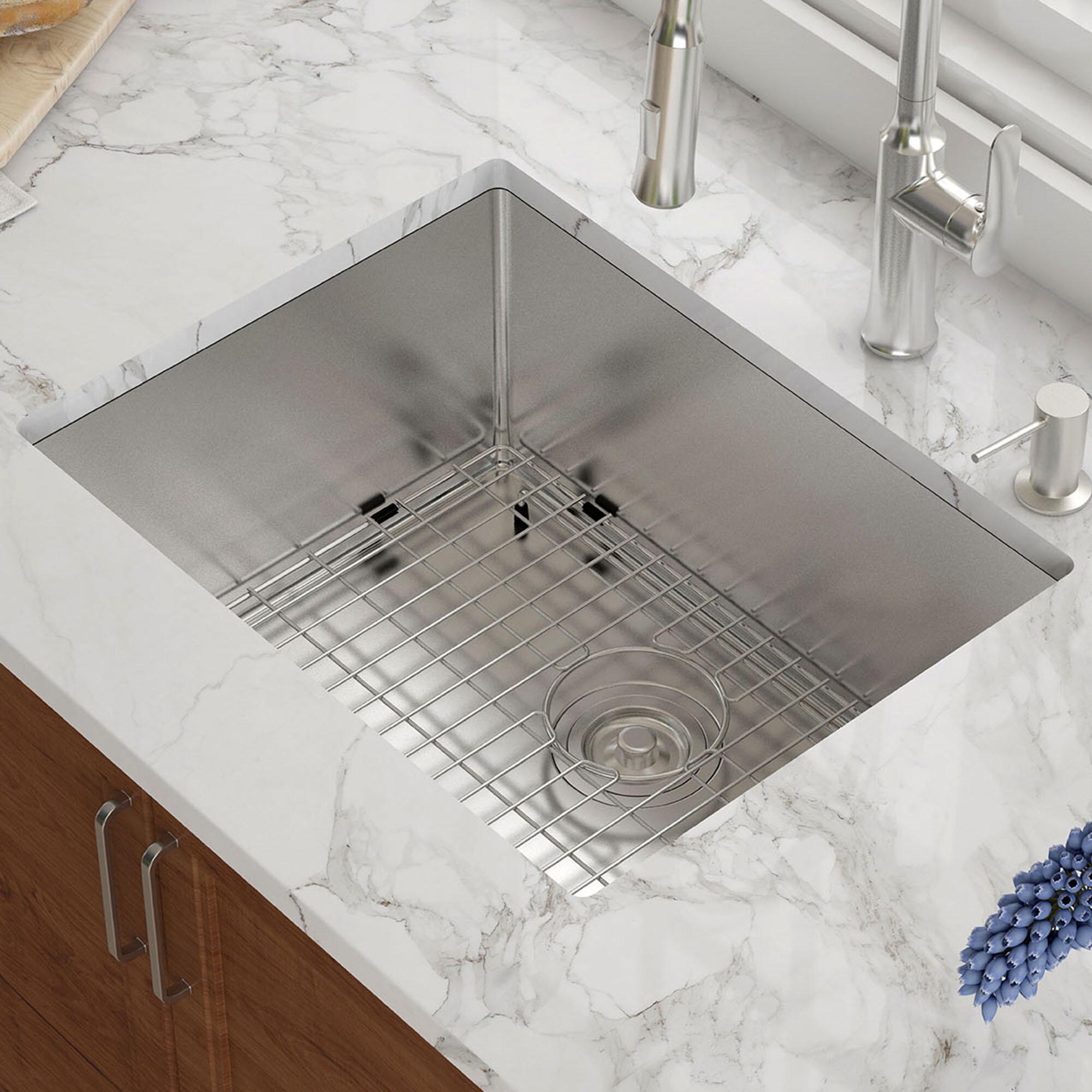 Khu101 23 kraus 23 l x 18 w undermount kitchen sink reviews wayfair