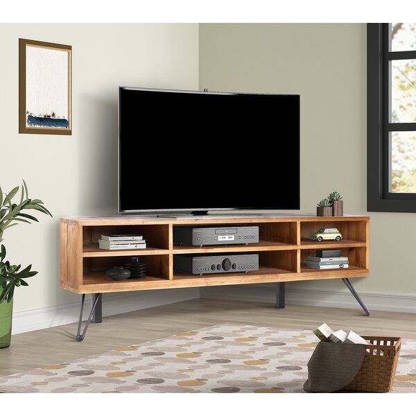 """Antonetta Solid Wood Corner TV Stand for TVs up to 52"""""""