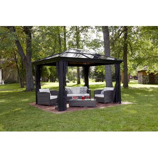 Ellington 10 Ft. W x 10 Ft. D Aluminum Patio Gazebo by Sojag