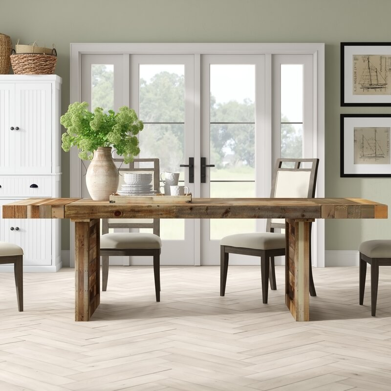 Birch Lane Fredricks Extendable Solid Wood Dining Table Reviews Wayfair