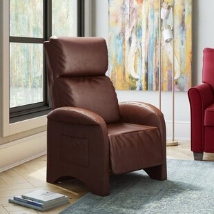 Ebern Designs Baretta Leather Recliner