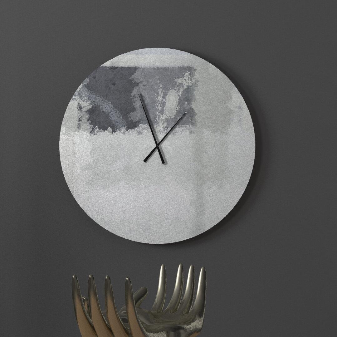 Latitude Run Advantageous Souped Up Abstract Metal Wall Clock Wayfair