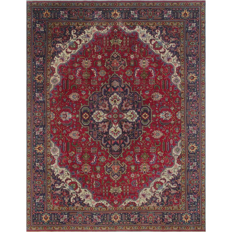 e75967f02c Bloomsbury Market One-of-a-Kind Brookswood Vintage Distressed Hand Knotted  Wool Red Area Rug | Wayfair