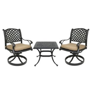 Darby Home Co Beadle Bistro Set with Cush..