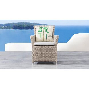 Norman Outdoor Wicker Patio Dining Chair with Cushion