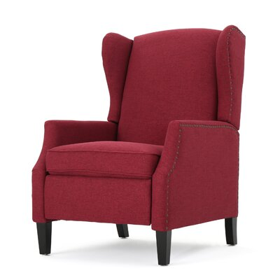 Lamontagne Wingback Manual Recliner Upholstery Color: Deep Red by Andover Mills