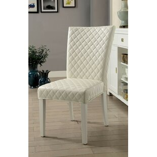 Marlborough Upholstered Dining Chair (Set of 2) Everly Quinn