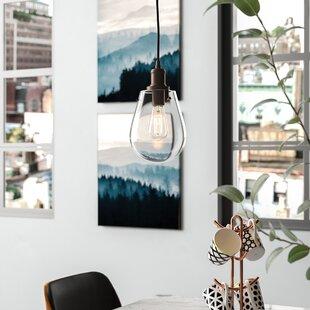 Moss 1-Light Teardrop Pendant by Wrought Studio