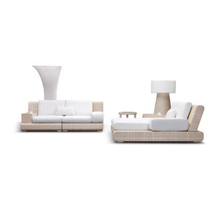 Sumba Deep Seating Group with Sunbrella Cushions by 100 Essentials
