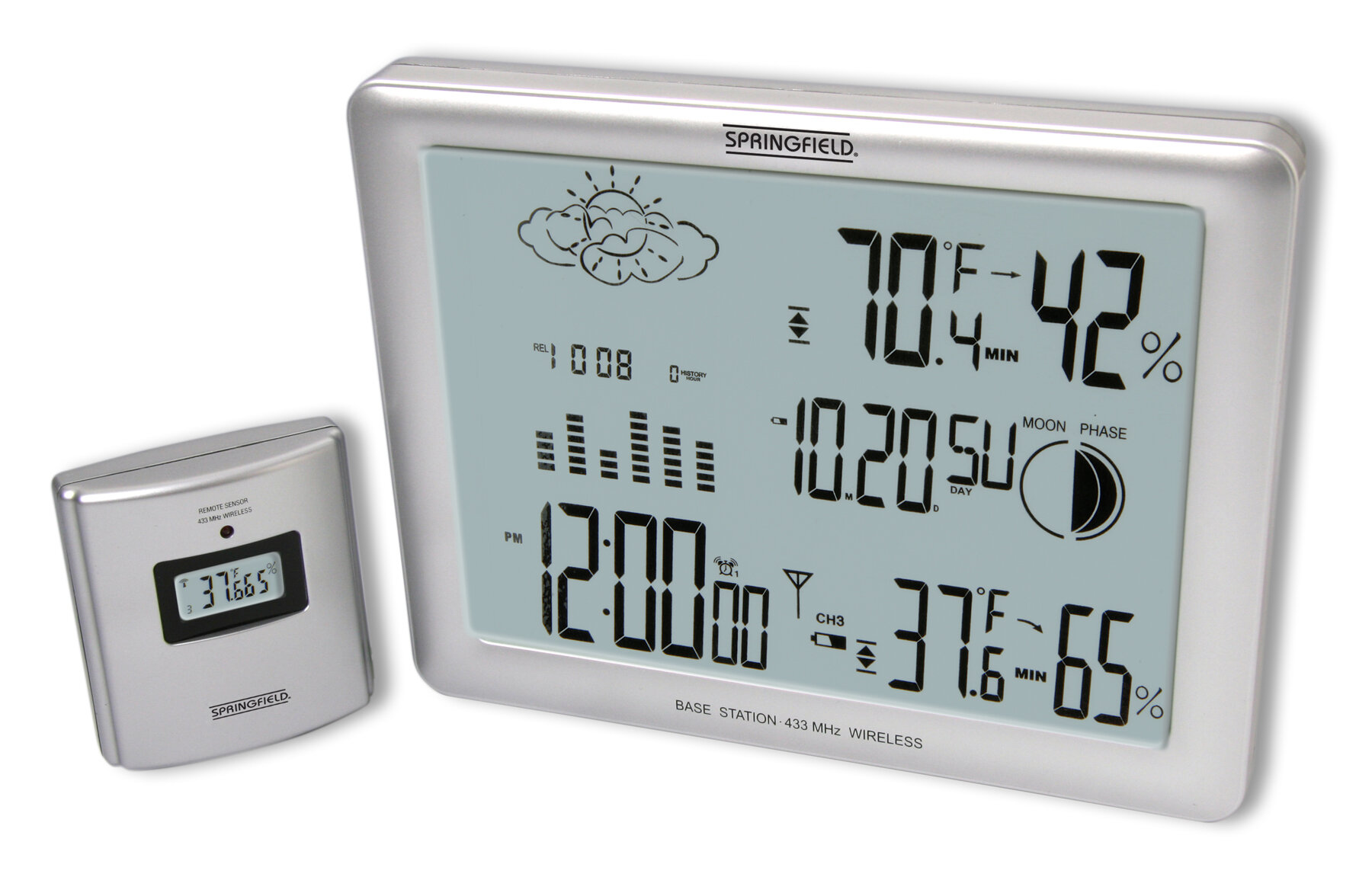 Taylor Springfield Deluxe/Jumbo LCD Wireless Weather Forecaster ...