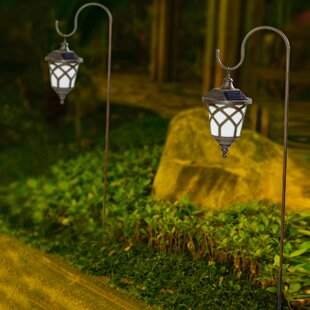 Winsome House Hanging Solar 1-Light Pathway Light (Set of 2)