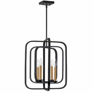 Delaney 4-Light Lantern Chandelier by Wro..