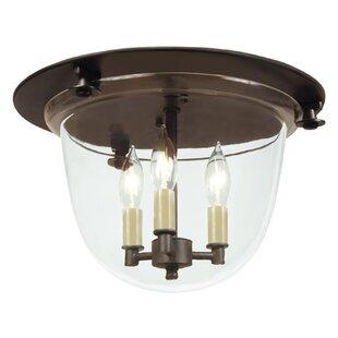 JVI Designs 3-Light Bell Flush Mount