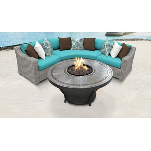 Coast Outdoor 4 Piece Sectional Seating Group with Cushions