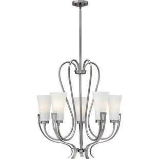 Pritts 5-Light Shaded Chandelier by Latitude Run