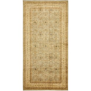 One Of A Kind Bronaugh Runner Hand Knotted 8 X 16 7 Wool Beige Area Rug