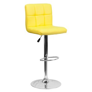 Faith Adjustable Height Swivel Barstool by Zipcode Design