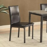 Ungar Upholstered Side chair in Black (Set of 2) by Millwood Pines