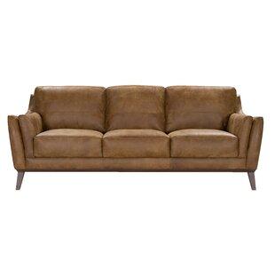 Blake Leather Sofa by Corrigan Studio