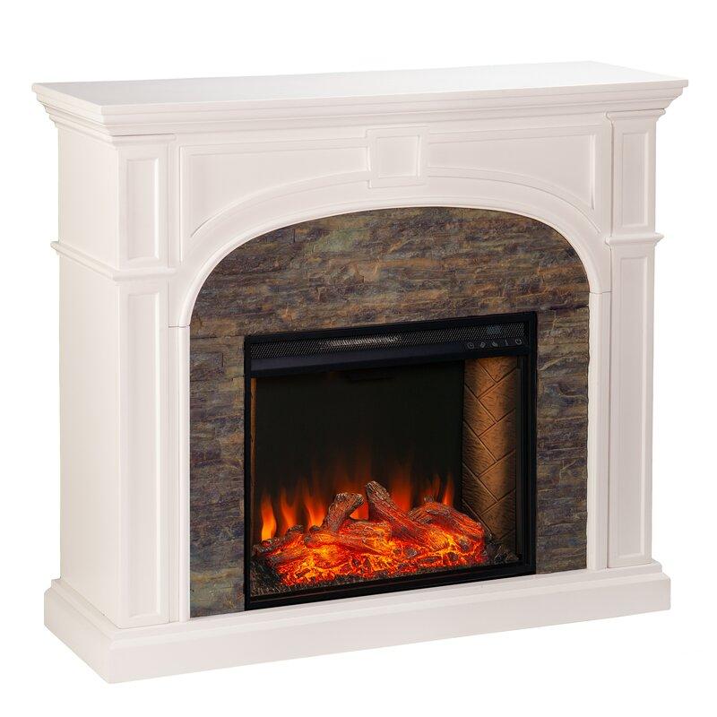 Latitude Run Tanaya Alexa Enabled Electric Fireplace