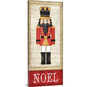 Christmas Art 'Nutcracker Noel' by Jennifer Pugh Graphic Art on Wrapped Canvas