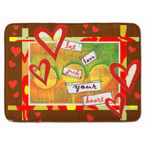 Let Love Guide Your Heart Valentine's Memory Foam Bath Rug