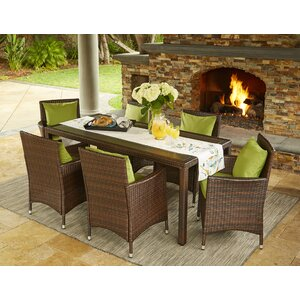 Belfield 7 Piece Dining Set with Cushions