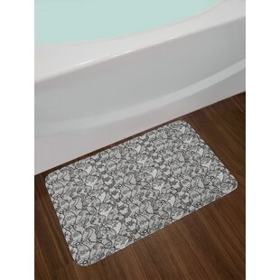 Lace Floral Bath Rug by East Urban Home