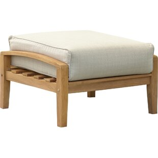 Summerton Teak Ottoman with Cushion by Birch Lane™ Heritage