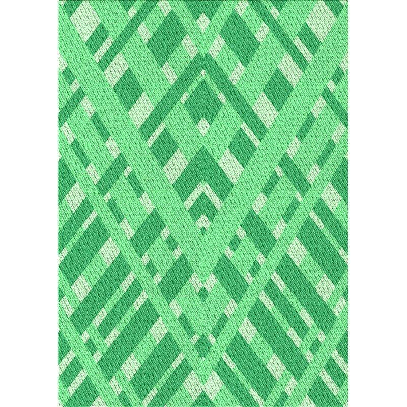 East Urban Home Mishler Abstract Wool Green Area Rug Wayfair