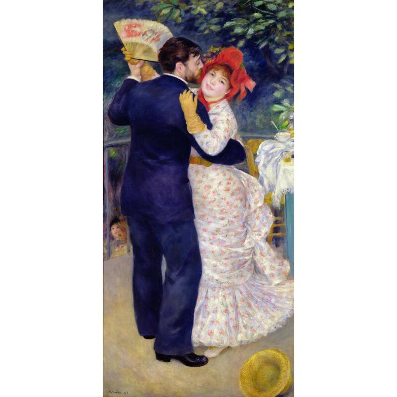 Vault W Artwork A Dance In The Country By Pierre Auguste Renoir Oil Painting Print On Paper Wayfair