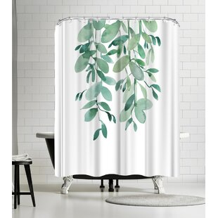 Victoria Nelson Tropical Leaf Eucalyptus Single Shower Curtain