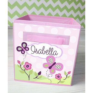 Butterfly Personalized Fabric Bin ByToad and Lily