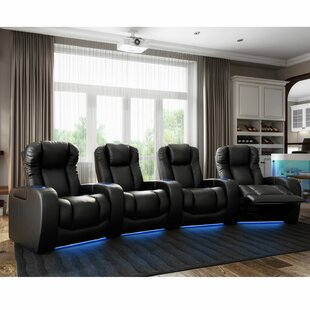 Grand HR Series Curved Home Theater Row Seating (Row Of 4) By Red Barrel Studio