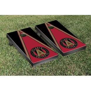 Victory Tailgate MLS Atlanta United FC Triangle Version Cornhole Game Set