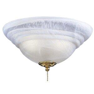 Universal 3-Light Bowl Ceiling Fan Light Kit