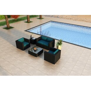 Azariah 4 Piece Sunbrella Sofa Set with Cushions