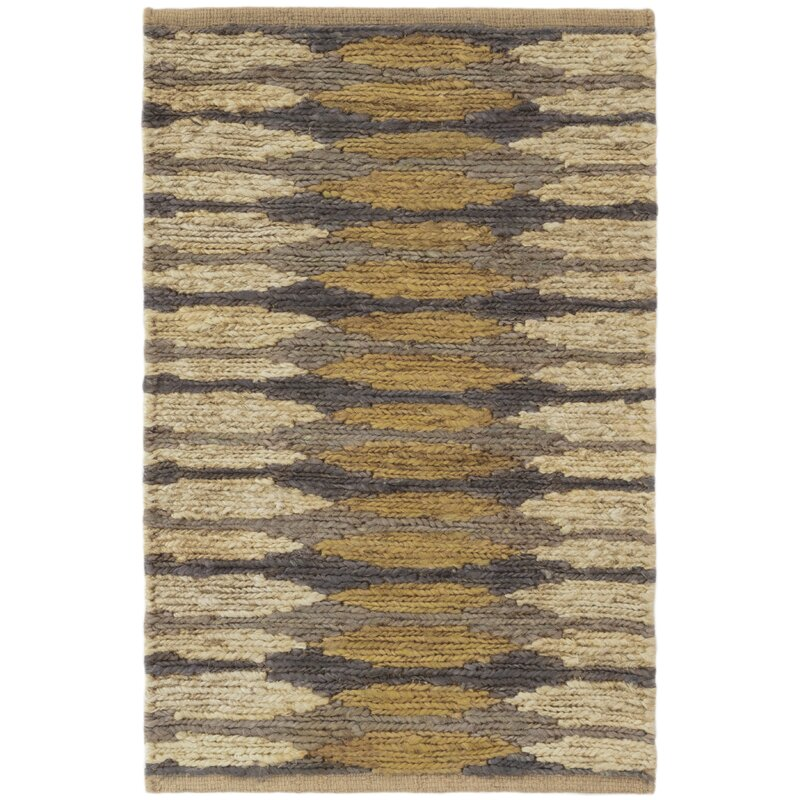 Dash And Albert Rugs Snapdragon Geometric Handmade Flatweave Jute Sisal Yellow Ivory Area Rug Wayfair