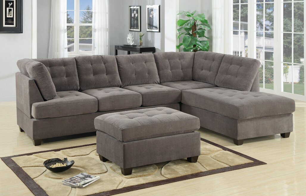 Darianna Waffle Reversible Sectional : sofa with 2 chaises - Sectionals, Sofas & Couches