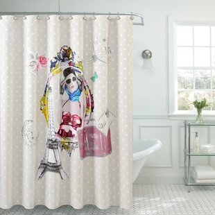Fancy Moda Single Shower Curtain
