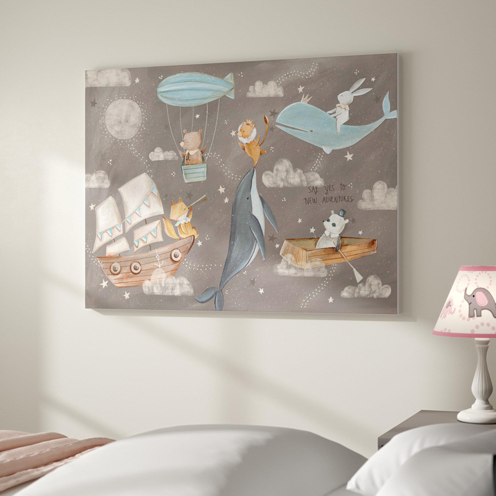 Woodland Friends Forest Animals Boys  Bedroom and Baby Nursery Kids Bedroom DOOR SIGN Wall Art DS0119