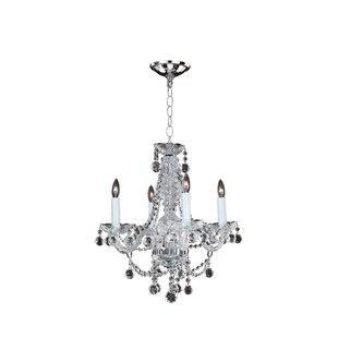 Glow Lighting 4-Light Candle Style Chandelier