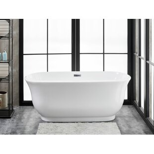 Julieta 59 inch  L x 28 inch  W Freestanding Soaking Bathtub