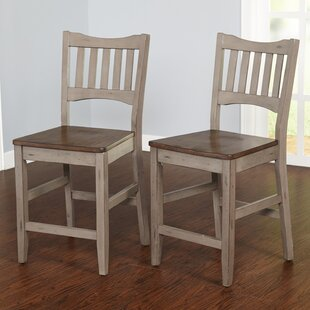 Gabler 24 Bar Stool (Set of 2) August Grove