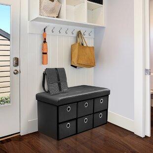 Rebrilliant Faux Leather Storage Bench