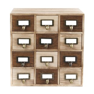 Cheever Wood 12 Drawers Accent Chest