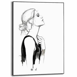 Glasbild Wandbild Bild Mausopardia Menschen Frau T6ET