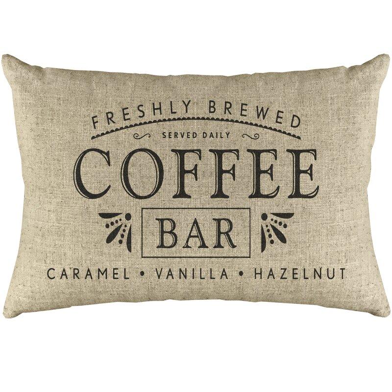Ophelia Co Eila Coffee Bar Linen Lumbar Pillow Reviews Wayfair