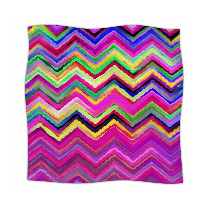 50 x 60 Deny Designs Sharon Turner Geo Chevron Fleece Throw Blanket